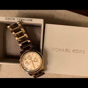 Michael Kors gold tortoise shell watch. Perfect